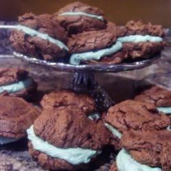 Chocolate Mint Sandwich Cookies