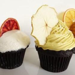 Gluten-Free Chocolate Cupcakes with Simple & Crisp Garnish