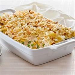 Bow Tie Chicken Recipe - This easy-to-make chicken casserole gets a zesty lift from Hidden Valley(R) Original Ranch(R) Dressing.