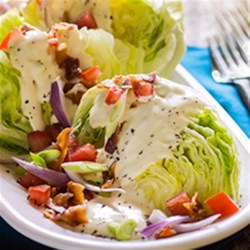 Ranch Wedge Salad Recipe - Everyone loves a wedge salad, but it's even better with ranch dressing!