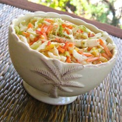 Original Old Bay(R) Coleslaw Recipe - The original slaw as it appeared on the can of seafood seasoning has cabbage, green peppers, and carrots, mixed with a sweet and tangy mayonnaise dressing.