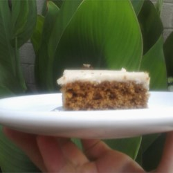 Frosted Molasses Bars Recipe - Frosted molasses bars made with raisins and a coffee flavored icing. Dee- licious!
