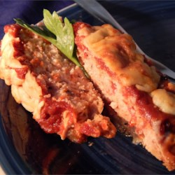 Turkey Meat Loaf: Almost As Good As Mom's Used To Be Recipe - Turkey meat loaf topped with a savory tomato sauce is easy to prepare for a weeknight meal.