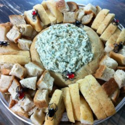 Ultimate Spinach Dip Recipe - This is the ultimate spinach dip! It is made from fresh spinach leaves and spring onions. It may be served at once, but tastes best when chilled for an hour. Serve with slices of sourdough baguettes.