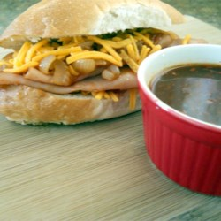 HERDEZ(R) Drowned Beef Sandwich with Chipotle Sauce (Torta Ahogada)