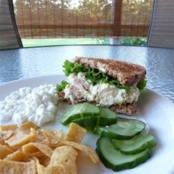 Where's the Tuna Salad Recipe - This is a tuna salad that makes those of us who love the veggies happy! Even people who don't normally like tuna will generally like this one. Serve on pita, or on your favorite bread or roll. Stuff a tomato, bell pepper, or zucchini with the blended salad. This makes 4 sandwiches or 2 generous salad servings.