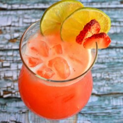 Mexican Strawberry Water (Agua de Fresa) Recipe - Fresh fruit waters, or Aguas de Frutas, made with crushed or blended fruit are a common and popular drink all over Mexico. This recipe is extremely flavorful and refreshing, especially when fresh strawberries are in season.