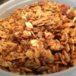Jennifer's Granola Recipe - This is a granola recipe fortified with wheat germ and flax seed that still tastes good.