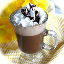 Chocolate-y Iced Mocha Recipe - Use coffee, almond milk, cocoa mix, and chocolate syrup to make your own iced mocha at home.