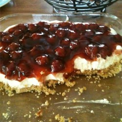 Best Cherry Cheesecake Recipe - No-bake cheesecake is easy to prepare with the help of cream cheese, whipped topping mix, and cherry pie filling.
