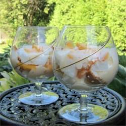 Fresh Peach Trifle