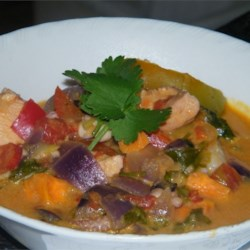 Seafood Mocequa Recipe - Traditional Brazilian seafood dish based on coconut milk and fish broth, served over rice or with farofa (cooked manioc meal).  You may use a variety of white fish as long as they are firm.  There is an oil called dende that is used in Brazil, but hard to find outside the country. Try looking in a Brazilian or Latino store.
