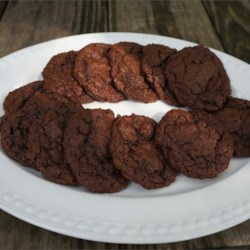 Gluten-Free Double Chocolate Cookies Recipe - Double chocolate gluten-free cookies are easy to prepare with a variety of flours including sorghum flour, creating a chewy and delightful treat.