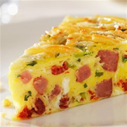 Smoked Sausage Frittata Recipe - Eggs combined with Butterball Smoked Sausage and vegetables provide a colorful and tasty dish for breakfast or brunch.