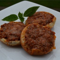 Opened Faced Pizza Burgers