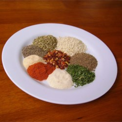 Salt-Free Spicy Herb Seasoning Blend Recipe - Brighten up meats, veggies, and even popcorn with this salt-free spicy blend of herbs and spices!