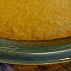 Crustless Pumpkin Pie Recipe - This crustless dessert tastes like a traditional pumpkin pie but has a custard-like texture.