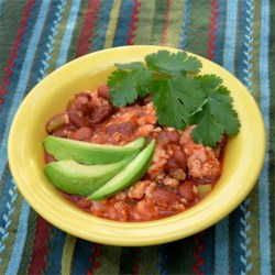 http://allrecipes.com/recipe/quick-and-healthy-turkey-chili/detail.aspx