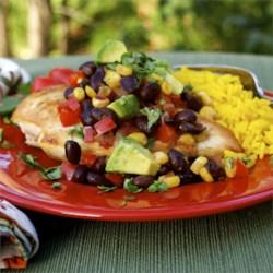 http://allrecipes.com/recipe/fiesta-chicken-and-black-beans/detail.aspx