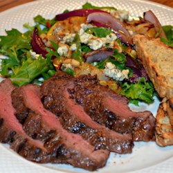 Maple-Balsamic Marinated Steak with Grilled Pear Salad