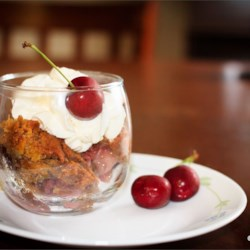 Fresh Cherry Cobbler Recipe and Video - This is a delicious cherry cobbler made with fresh cherries instead of canned. It may take a little longer to make because you need to pit the cherries, but it is well worth it when you taste the finished product.