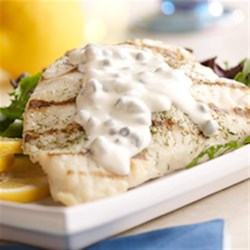 Grilled Mahi Mahi with Lemon Caper Sauce Recipe - Capers, lemon, and lime bring their bright flavors to these grilled mahi mahi fillets.