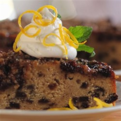 Mincemeat Spice Cake Recipe - Spice cake is baked halfway, then topped with a mincemeat and rolled oats mixture for a rich and delicious dessert.