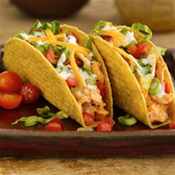 Roasted Tomato Stand 'N Stuff(R) Tacos Recipe - Try these delicious tacos at your next taco night feast; they come together quickly and are sure to be a hit with the whole family!