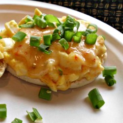 Spicy Egg Salad English Muffins Recipe - Start the morning off right by eating these egg salad English muffins with a spicy kick!
