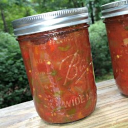 Rockin' Salsa Recipe - This recipe makes several jars of spicy salsa that's great for gift-giving or to just have in your pantry.