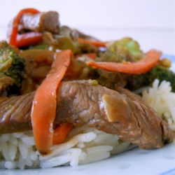 Beef Stir-Fry with Peanut Sauce Recipe - This versatile recipe can adapt to whatever vegetables you have on hand. The key is to make sure you have all the vegetables chopped beforehand, and the sauce ready to go as well.