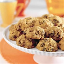 Harvest Pumpkin-Oatmeal Raisin Cookies Recipe - All the flavors of fall packed into a cookie - irresistible!