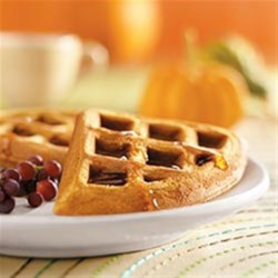 Pumpkin Waffles Recipe - Nothing beats the smell of freshly baked waffles on a cold wintery day.