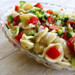 Fresh Vegetable Salad Recipe - This pasta salad is packed with fresh vegetables for a refreshing summer side dish.