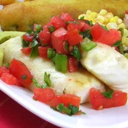 Acapulco Margarita Grouper Recipe - Sea bass or any firm-fleshed fish may be used if grouper is not available. The grilled fish and fresh salsa are terrific when served with grilled corn and margaritas.