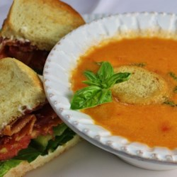 Sweet and Chunky Tomato Soup Recipe - This flavorful soup is a great treat any time of year! Its sweet and fresh taste redefines this typically average dish while chunks of tomatoes give it a hearty and filling appeal. Serve small portions with you favorite bread or roll.