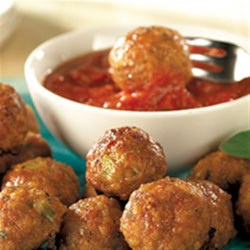 Pork Sausage Meatballs from Hatfield(R) Recipe - This recipe for sausage meatballs with Parmesan cheese makes a lot! You can serve a big crowd or freeze some for later use.