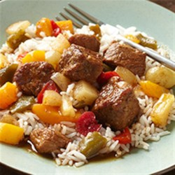 Slow Cooker Sweet and Sour Pork Recipe - Come home to an Asian-inspired slow-cooked dinner of sweet and sour pork made in the slow cooker. Just make a pot of rice and dinner is ready.