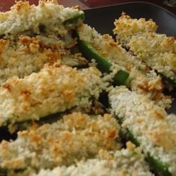 Blue Cheese Jalapeno Poppers Recipe - Panko breadcrumbs coat these blue cheese-stuffed jalapenos before being baked for a savory and spicy treat.