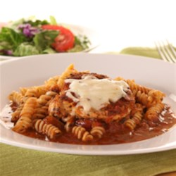 KRAFT RECIPE MAKERS Bruschetta Style Pork Chops Recipe - Dip pork chops in a tasty saucy, coat with panko crumbs, then quickly brown in oil. Simmer with delicious prepared sauces, top with mozzarella, and dinner's on the table in 25 minutes!