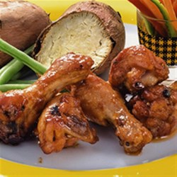 Honey BBQ-Marinated Chicken Drumsticks Recipe - Stickily sweet and savory, Honey BBQ-Marinated Chicken Drumsticks can be a weeknight routine or a special addition to a weekend barbeque. Finger lickin', lip smackin' good, these drumsticks are too good to not make.