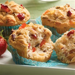 Gluten-free Fruit and Grain Muffins Recipe - A blend of whole grains is baked into these sweet and delicious gluten-free muffins.