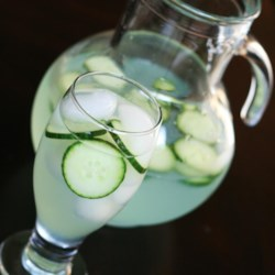 Virgin Cucumber Mojito Recipe - Use an instant Mojito powder and sliced cucumbers to make a pitcher full of summertime refreshment.