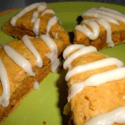 Pumpkin Scones with Brown Butter Glaze