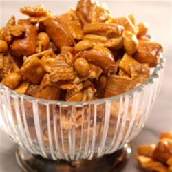 Crunchy Caramel Snack Mix Recipe - This snack recipe is perfect for any occasion whether it's the big game or a birthday celebration.