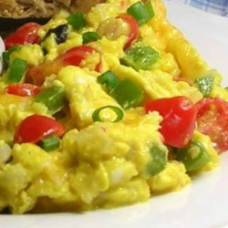 Extreme Veggie Scrambled Eggs Recipe - A variety of veggies combined with eggs make a great start to the day.
