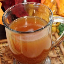 Hot Spiced Tea for the Holidays Recipe - This Christmas-time recipe calls for tea to be brewed with spices before being mixed with fruit juices for a warm and comforting beverage.