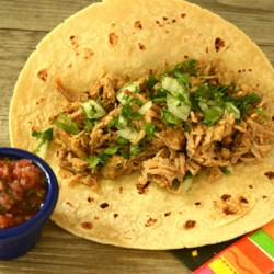 Dee's Roast Pork for Tacos Recipe - This is a dish that will make your tongue jump out of your mouth, slap you in the face, and say 'Oh yeah'. Put meat and maybe some Pico De Gallo or salsa into warm tortillas to make tacos.