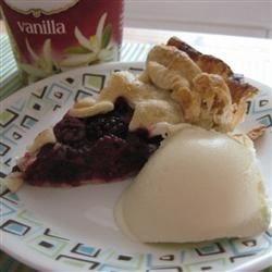 Blackberry Pie and Vanilla Ice Cream