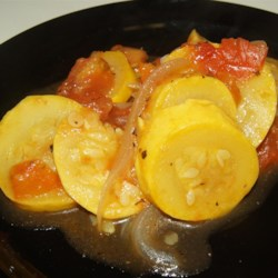 Summerly Squash Recipe - The best of the summer crop comes together in this fresh, flavorful squash and tomato side dish.